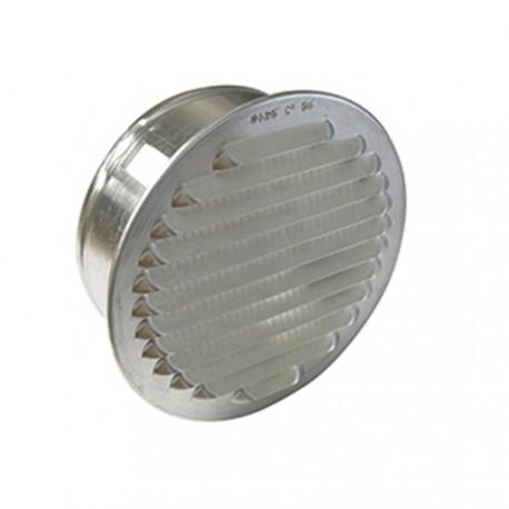 Grille de ventilation ronde à encastrer aluminium